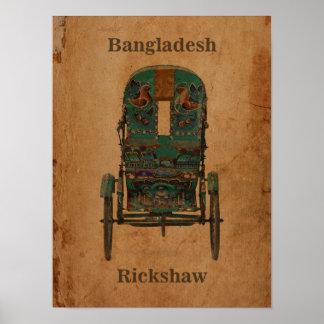 De vintage Riksja van Bangladesh van het Poster