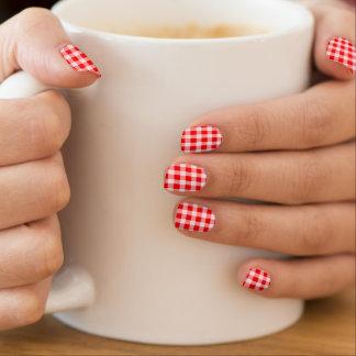 de vintage rode spijkers van de de controlemode minx nail art