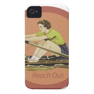 De vintage Roeier van de Vrouw iPhone 4 Hoesje