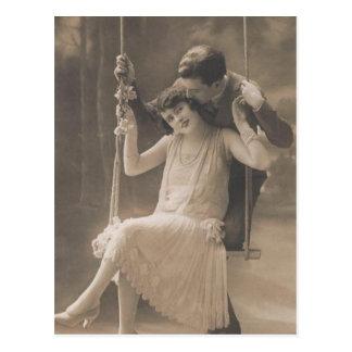 De vintage Romantische Kaarten en de Giften van