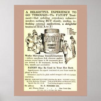 De vintage Room FATOFF van de Vermindering van het Poster