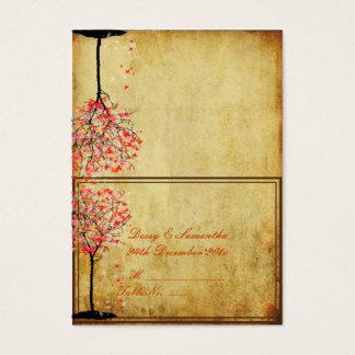 De vintage roze esdoorn van PixDezines/de kaart Visitekaartjes