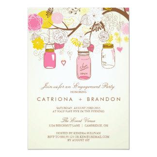 De vintage Roze Uitnodiging van het Verloving van