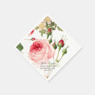 De Vintage Rozen van PixDezines/Botanisch Art. Wegwerp Servetten