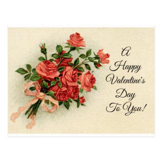 De vintage Rozen van Valentijn Briefkaart