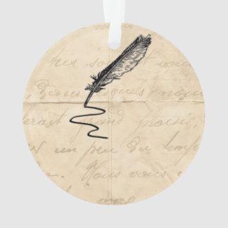 De vintage Schacht van de Veer van de Schrijver Ornament