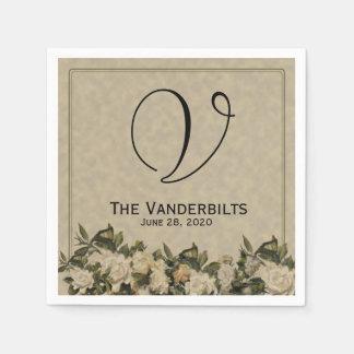 De vintage Servetten van het Huwelijk van Gardenia Papieren Servet