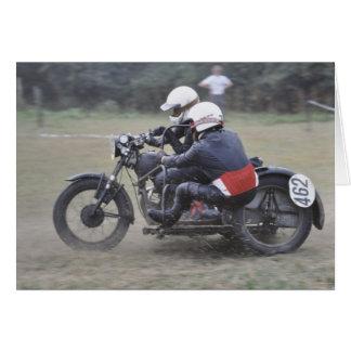 de vintage sidecar verjaardag van de briefkaarten 0
