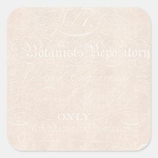 De vintage Sjabloon van het Document van het Vierkante Sticker