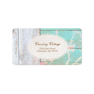 De Vintage, Sjofele, Rustieke Houten Elegante Etiket