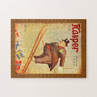De vintage Skandinavische Advertentie van de Puzzel