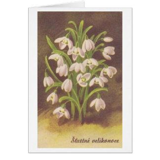 De vintage Slowaakse/Tsjechische Kaart van Pasen