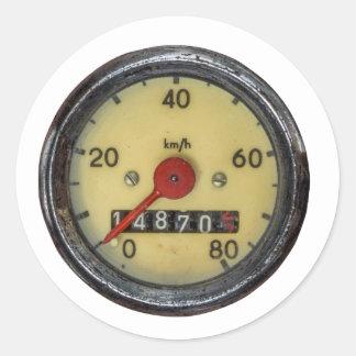 De vintage Snelheidsmeter van de Autoped Ronde Sticker