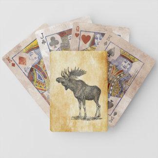De vintage Speelkaarten van Amerikaanse elanden Poker Kaarten