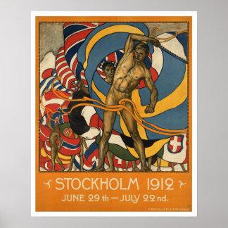 De vintage Sporten Zweden van Stockholm Poster