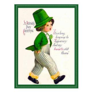 De vintage St. Patrick Groet van de Dag Briefkaart