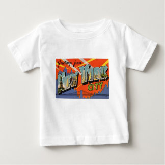 De vintage Stad van New York Baby T Shirts