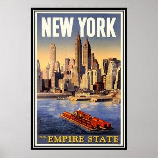 De vintage Stad van New York, de V.S. - Poster
