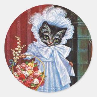 De vintage Sticker van de Kat, Arthur Thiele