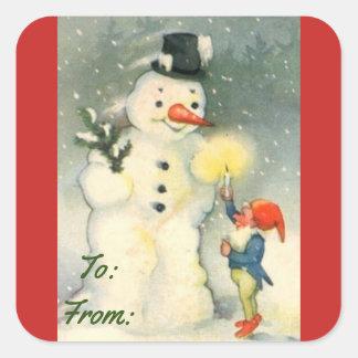 De vintage Sticker van het Label van de Gift van