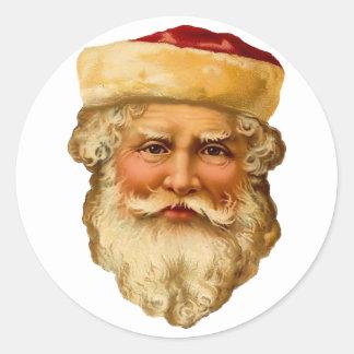 De vintage Sticker van Kerstman