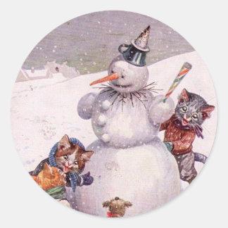 De vintage Sticker van Kerstmis, Arthur Thiele