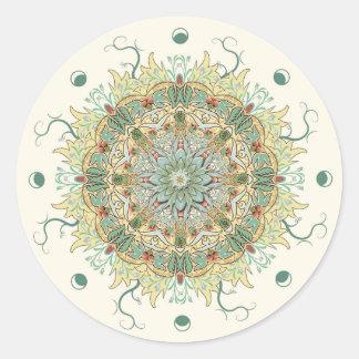 De vintage Sticker van Mandala van de Bloem van