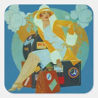 De vintage Stickers van de Bagage van de Reis van