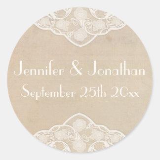 De vintage Stickers van het Huwelijk van de Stijl