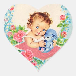 De vintage Stickers van het Meisje van het Baby