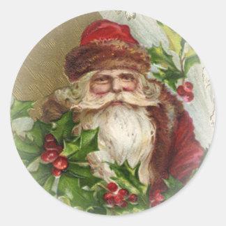 De vintage Stickers van Kerstmis van de Kerstman