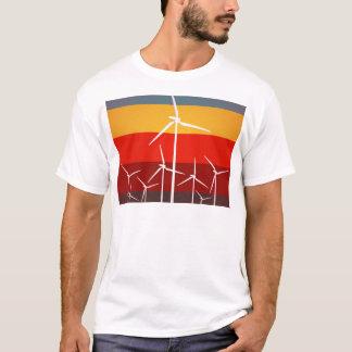 De Vintage Stijl van de Turbines van de wind T Shirt