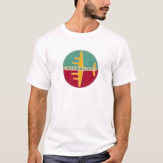 """De vintage StraalT-shirt """"GlobalJet """" van de T Shirt"""