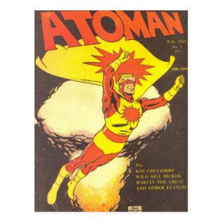 De vintage strippagina van Atoman Briefkaart