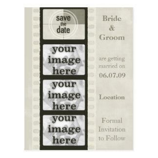 De vintage Strook van de Film bewaart de Briefkaart