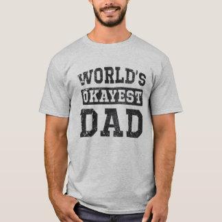 De vintage T-shirt van de Papa van Okayest van de