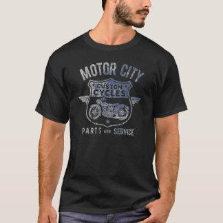 De Vintage T-shirt van de Stad van de motor