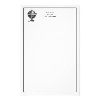 De vintage Tekening BW van de Lithografie van het Briefpapier