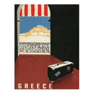 De vintage Tempel van Athene Parthenon van de Reis Briefkaart