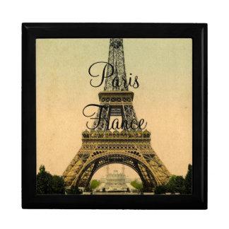 De vintage Toren Parijs Frankrijk Poscard van Decoratiedoosje
