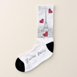 De vintage Toren van Eiffel - J'aime groot Parijs Sokken