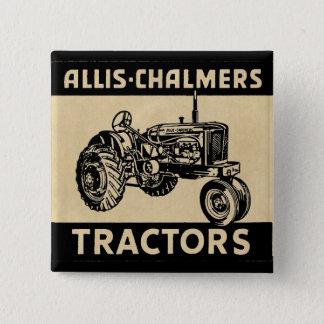 De vintage Tractor van het Boerderij Vierkante Button 5,1 Cm