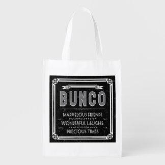 De Vintage Typografie van Bunco Herbruikbare Boodschappentas