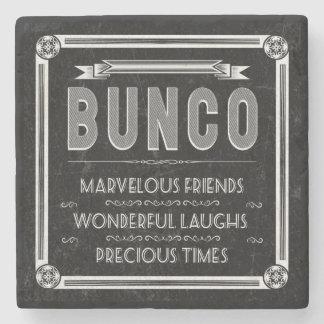 De Vintage Typografie van Bunco Stenen Onderzetter