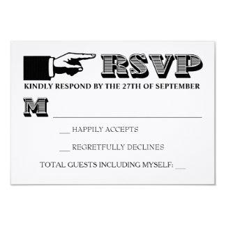 De vintage Uitnodiging RSVP van het Huwelijk van