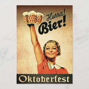 De vintage Uitnodiging van de Douane Oktoberfest
