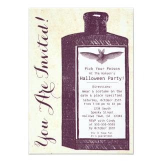 De vintage Uitnodiging van Halloween van de Fles