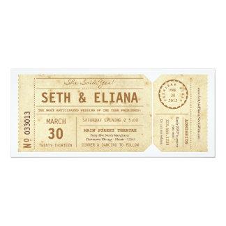 De vintage Uitnodiging van het Huwelijk van het 10,2x23,5 Uitnodiging Kaart