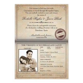 De vintage Uitnodiging van het Paspoort