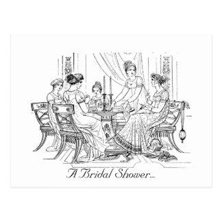 De vintage Uitnodiging van het Vrijgezellenfeest Briefkaart